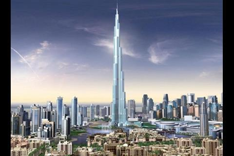 The 164-storey Burj al-Dubai
